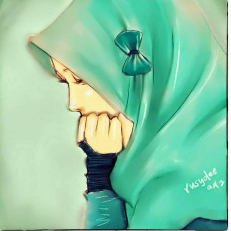 Gambar Kartun Muslimah Yang Romantis Gambar Kartun